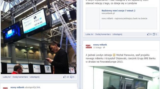 fanpage nowy mBank na facebooku