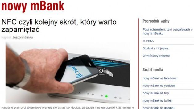 nowy mBank blog