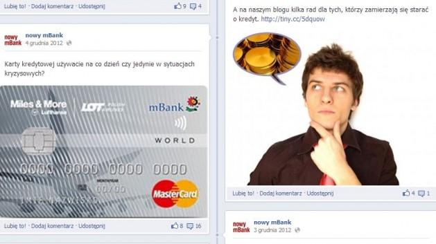 nowy mBank na facebooku koniec roku 2012