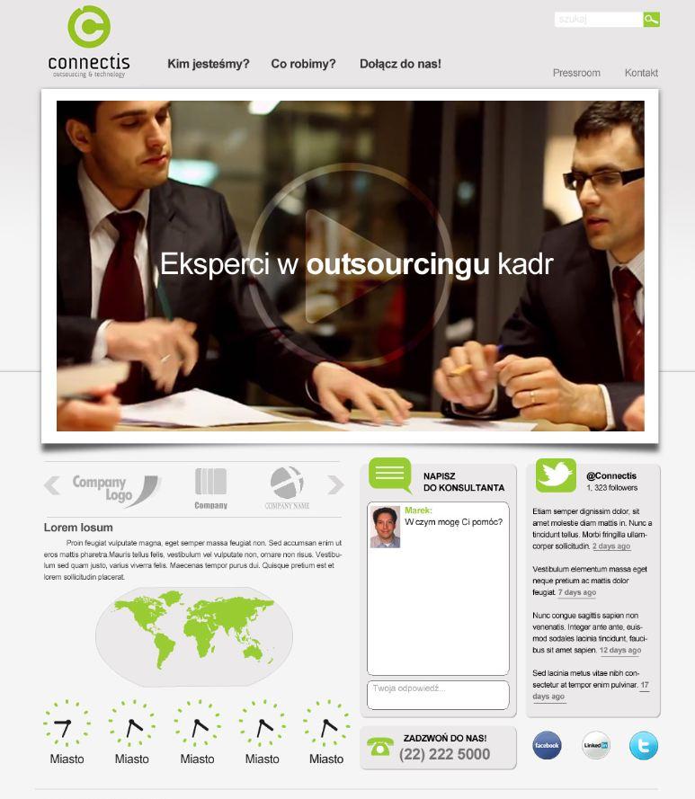Serwis spółki - projekt 1